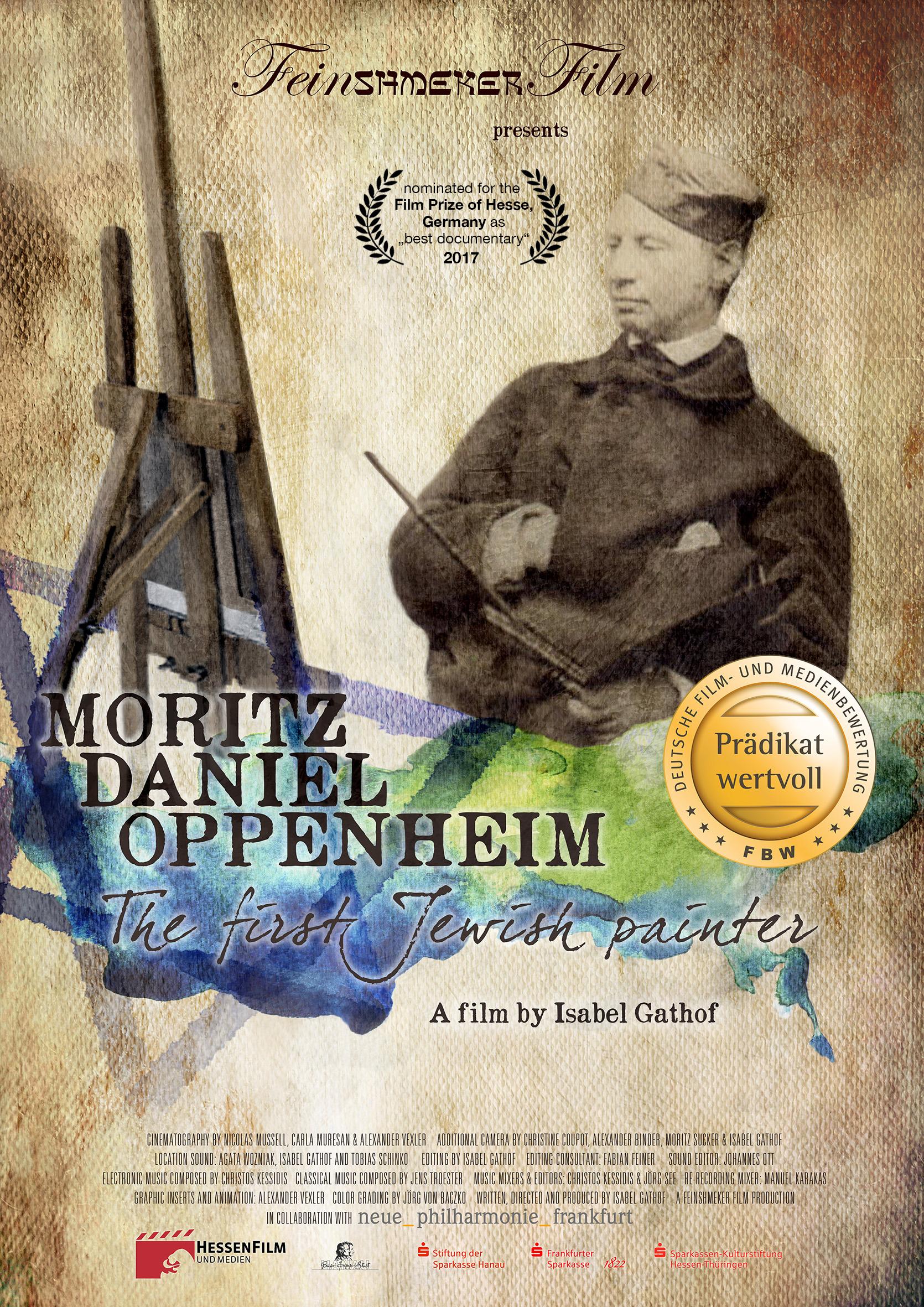 Filmposter_MORITZDANIELOPPENHEIM_mitPrädikatssiegel_NominierungFilmpreis